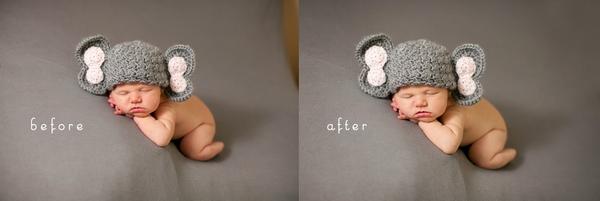 一张婴儿照片的后期简介