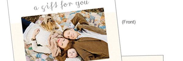 儿童摄影师的礼品卡营销