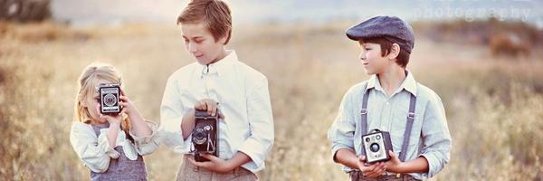 儿童摄影道具——古董相机