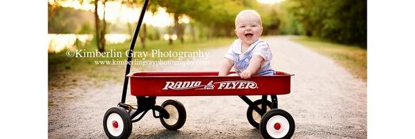儿童摄影道具——小拖车