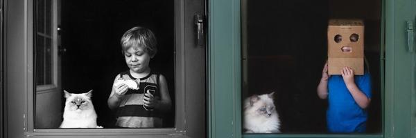 个人拍摄项目:男孩和猫