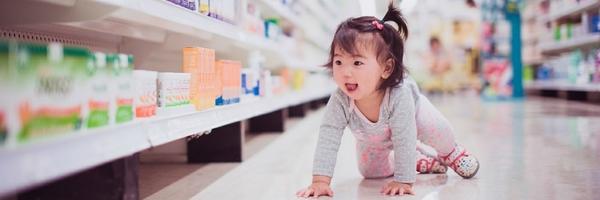 如何在超市给宝宝拍纪实照片