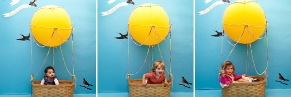 儿童摄影道具创意:热气球之旅