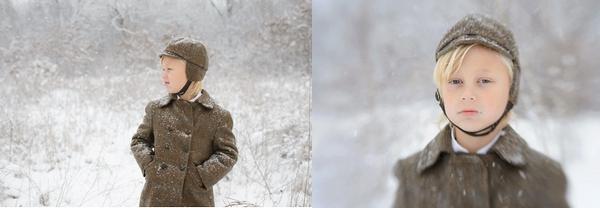 雪中的孩子