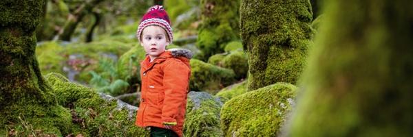 在树林里拍孩子