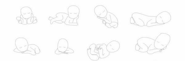 新生儿摄影摆姿草图