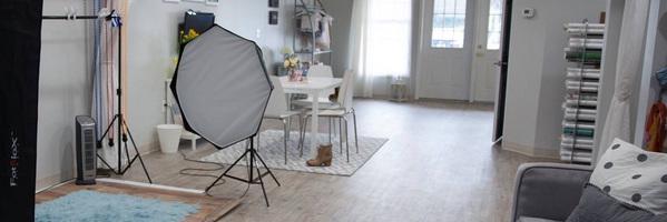 一组新生儿摄影工作室实景照片